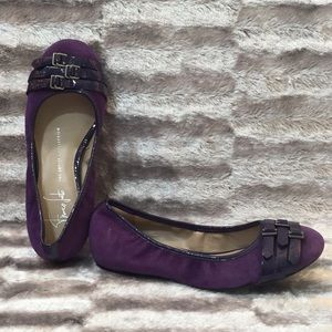 6M FRANCO SARTO Purple Suede Leather ARIANA Flats